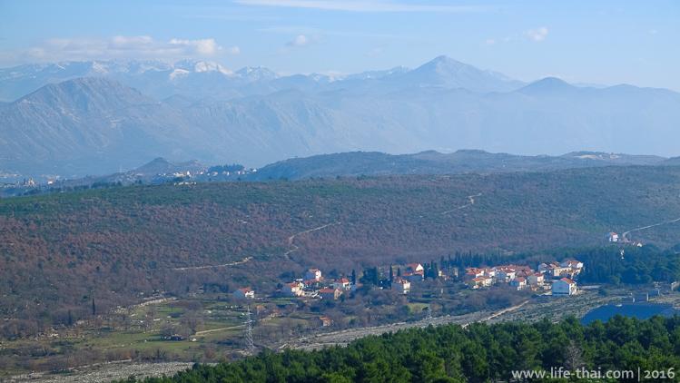 Дубровник в осаде, фото с горы Срдж, форт Империал