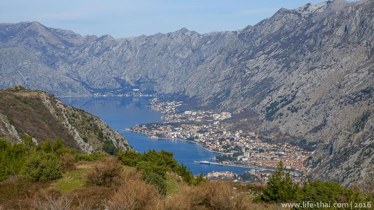 Вид на Котор с Форта Горажда, Черногория