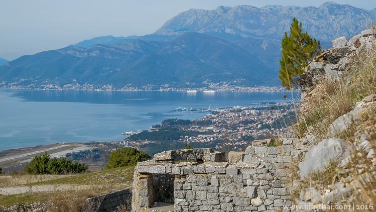 Вид на Тиват с Форта Горажда, Черногория