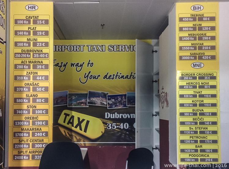 Как добраться из аэропорта в Дубровник, цены на такси