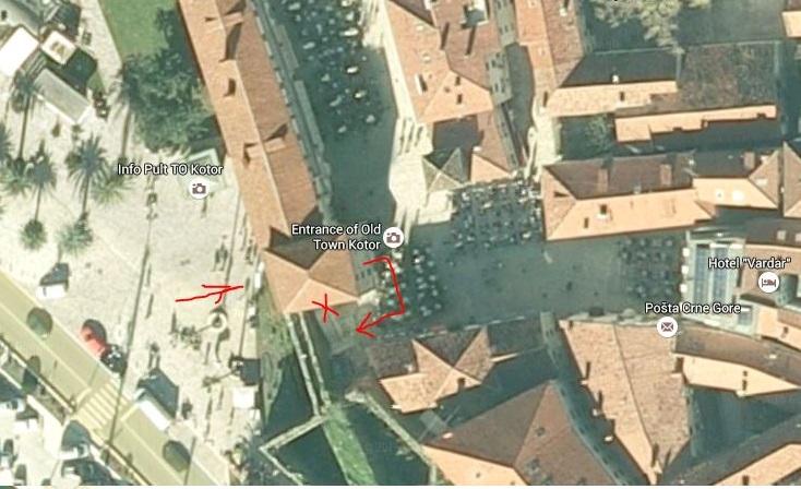 Где находится посольство Хорватии в Которе карта
