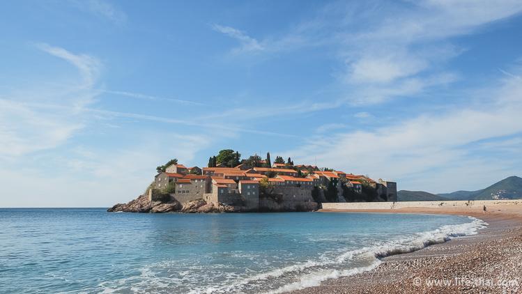 Пляж Свети Стефан, фото, описание