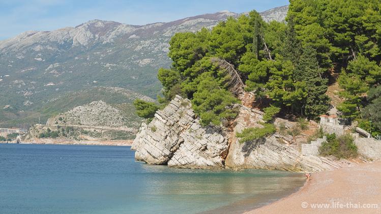 Пляж Аман, Свети Стефан, фото