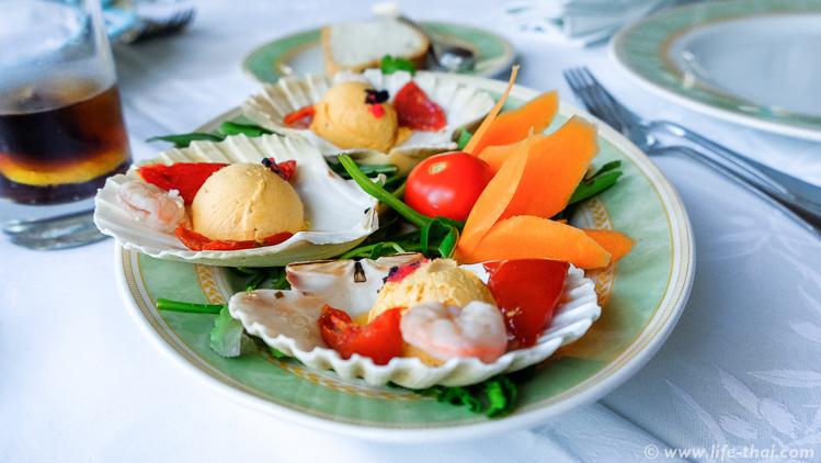 Обед в Стоне, рыбная тарелка