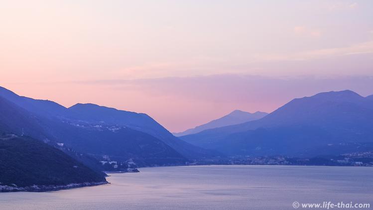 Закат в Луштице, Черногория