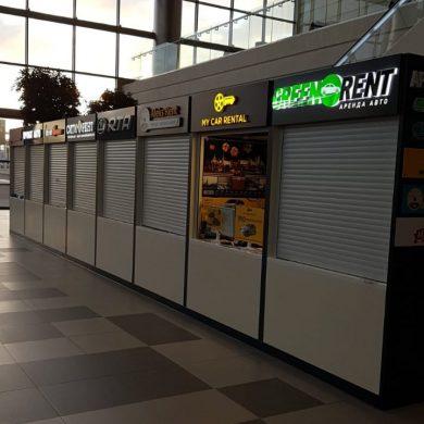 Стойки прокатов авто в аэропорту Симферополя