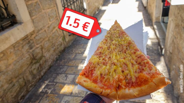 Сколько стоит пицца в Черногории