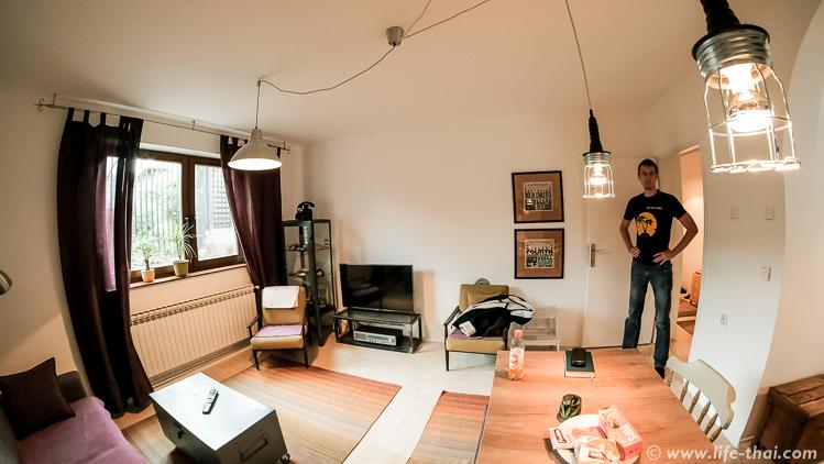 Зал, обзор квартиры в Сараево