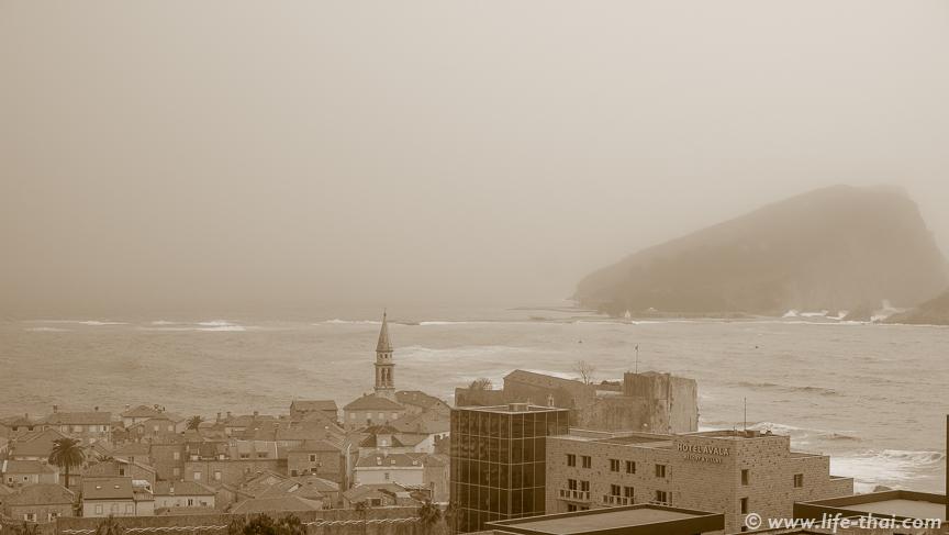 Песчаная буря в Черногории