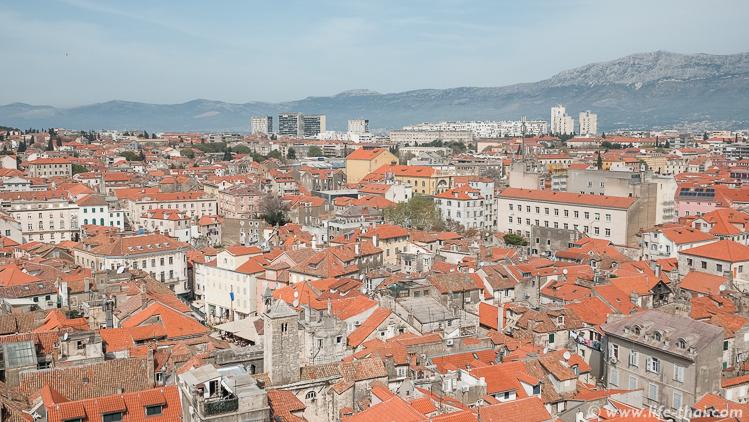 Сплит, вид с колокольни, Хорватия