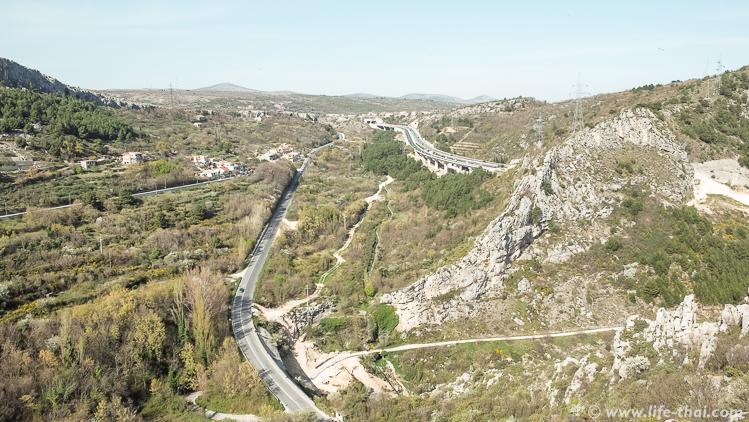 Виды с крепости Клис, Хорватия