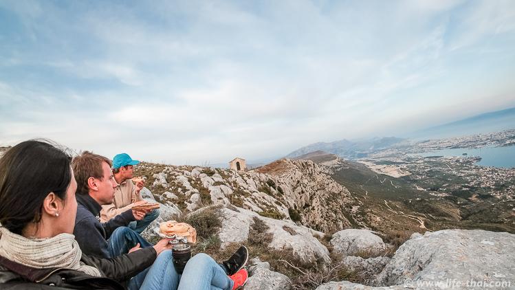Ужин на горе Козяк, Сплит, Хорватия