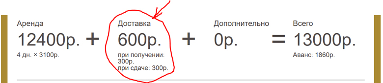 Стоимость доставки машины, прокат машины в Крыму