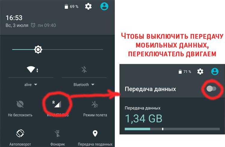 Как выключить мобильную передачу данных на телефоне