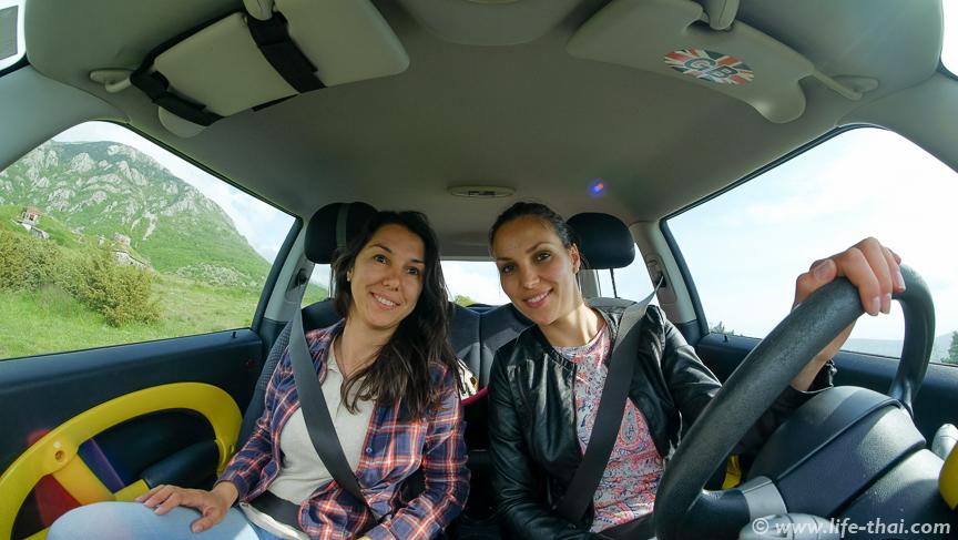 Я и моя сестра в мини-купере