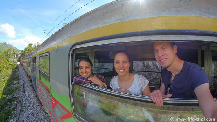 В поезде Подгорица-Белград