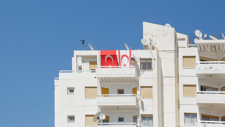 Турецкие флаги на Северном Кипре