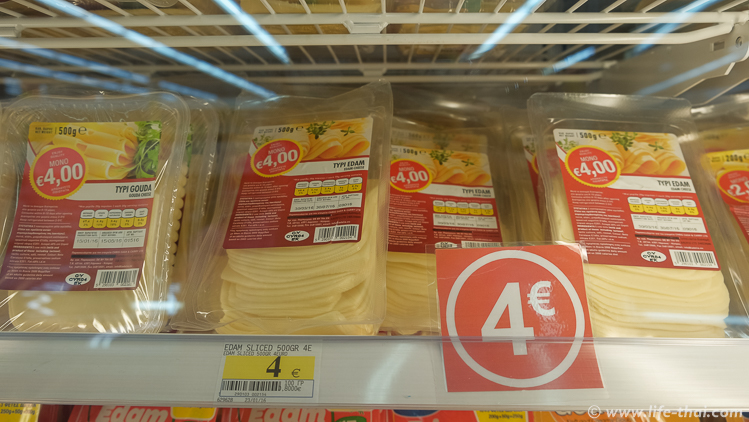 Цены на продукты на Кипре 2016