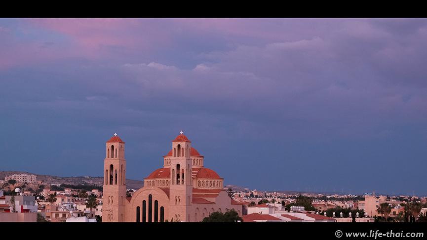 Закат на Кипре, фото