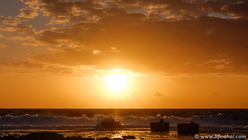 Море, Закат на Кипре, фото