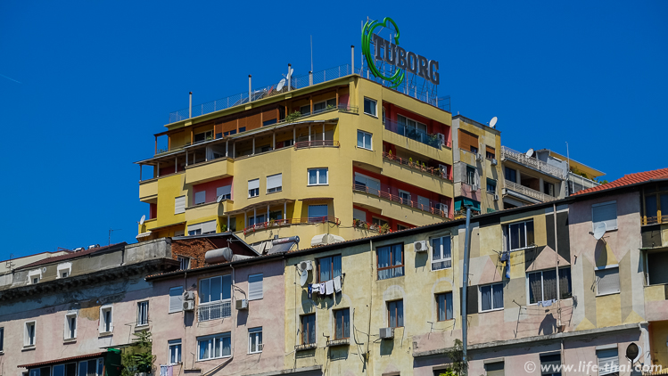 Многоэтажка, Албания