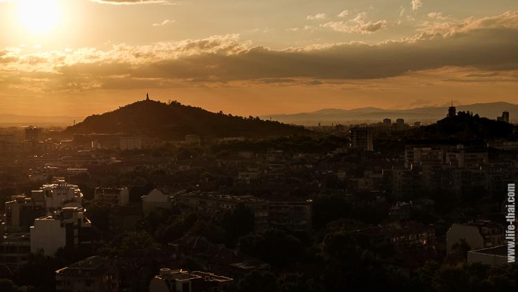 Закат в Пловдиве, Болгария