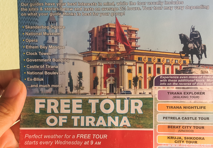 Бесплатный тур по Тиране