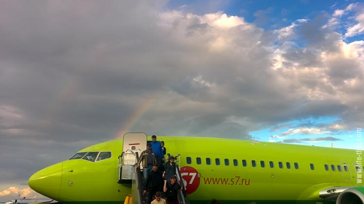 S7 в Краснодаре и двойная радуга