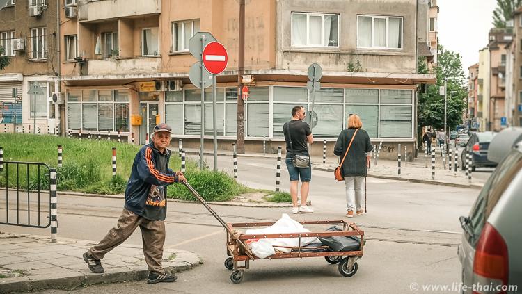 Бомжи в Софии, Болгария
