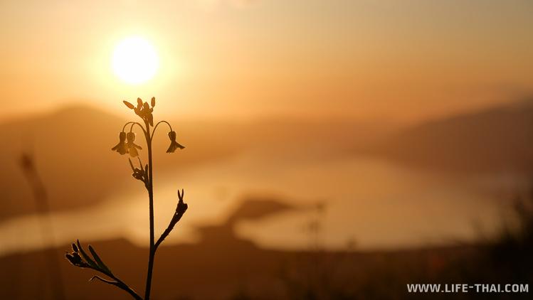 Закат на Горажде, вид на Боко-Которский залив, Черногория