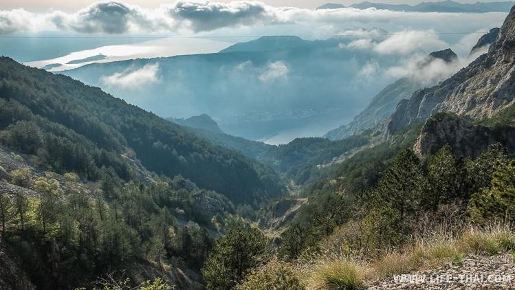 Зиплайн над пропастью, Котор, Черногория
