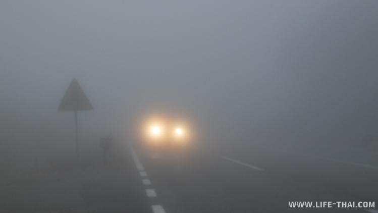 Дорога из Будвы в Цетинье во время дождя, Черногория