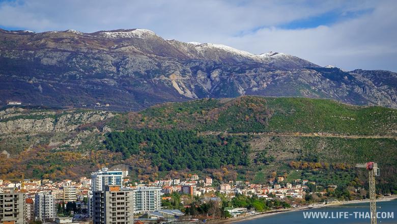 Будва в январе, зима в Черногории