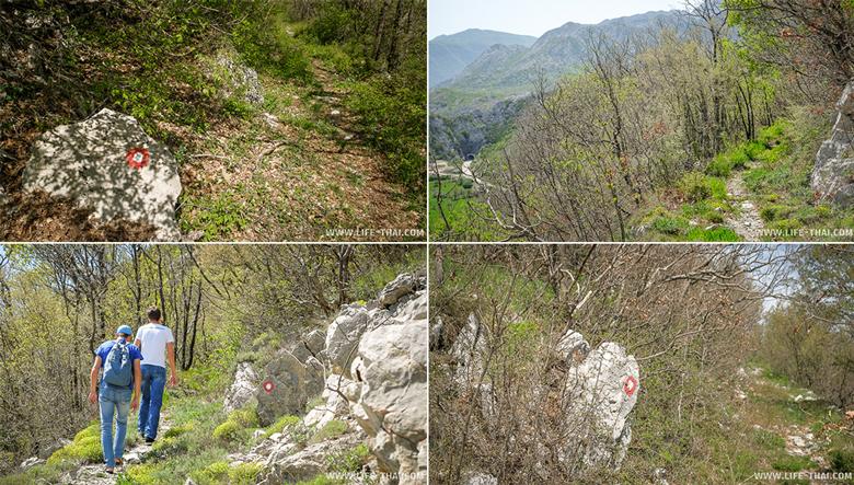 Подъем к австрийскому форту Грковац, Черногория