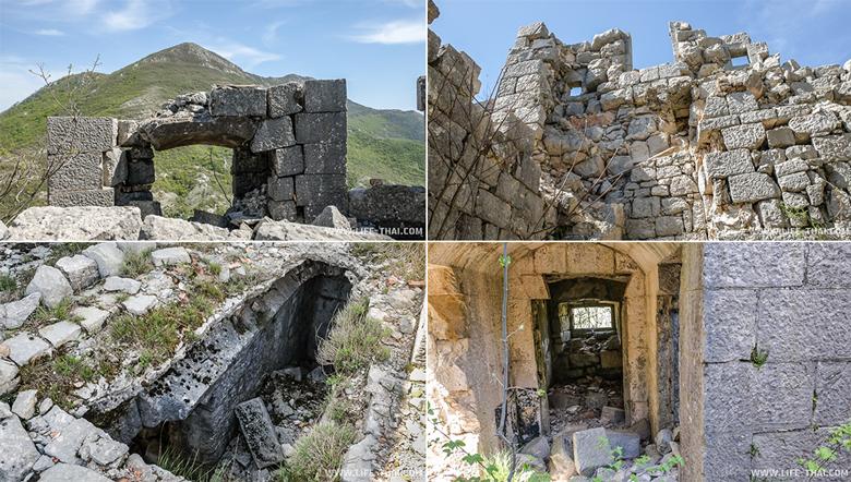 Развали австрийского форта Ундер Грковац, Черногория