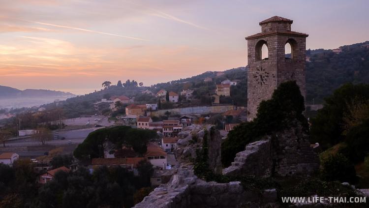 Часовая башня, старый город в Баре, Черногория