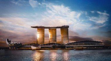 Марина бэй - самый известный отель в Сингапуре