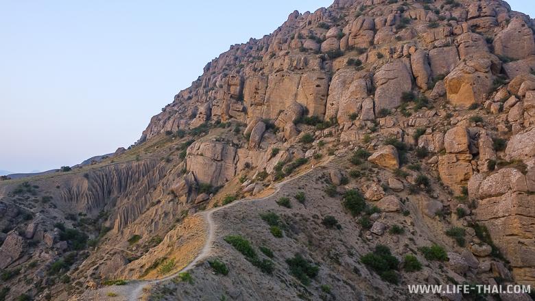 Мыс Меганом, Крым, пешеходная тропа