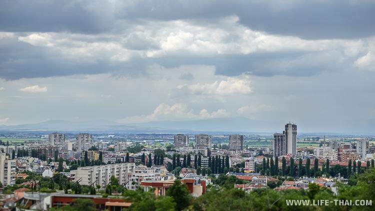 Панорама Пловдива, фото