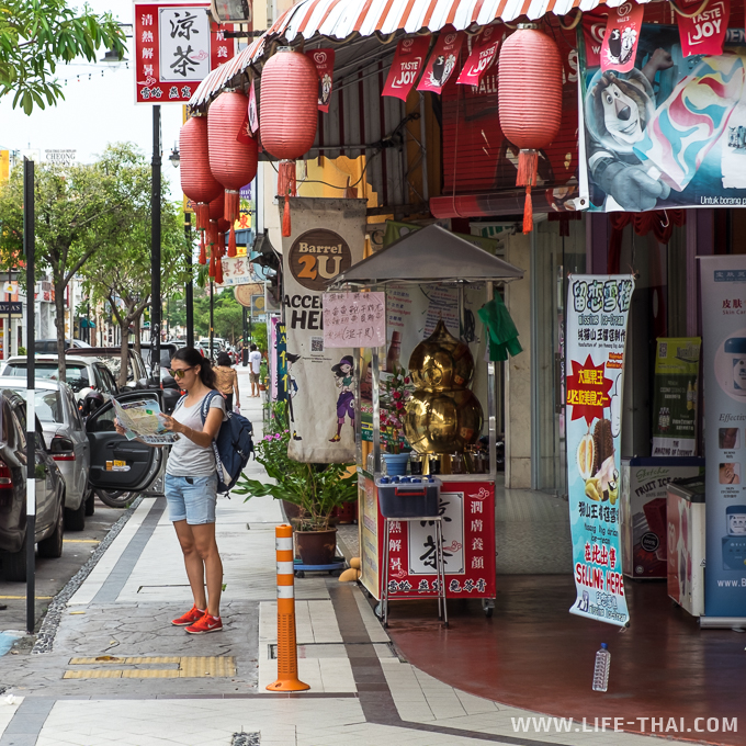 Улочки Джордж-тауна, Пенанг, Малайзия