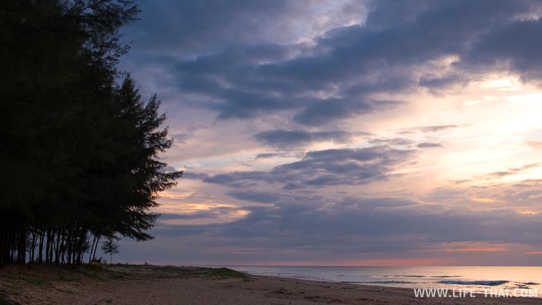 Закат на Као Лаке, северный пляж Банг Лют
