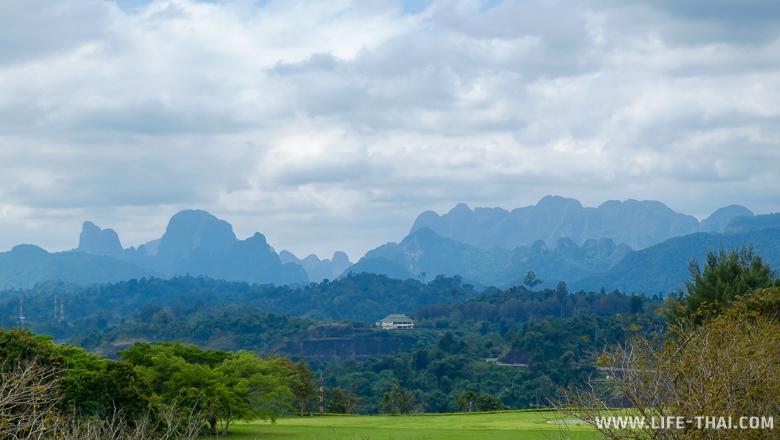 Смотровая площадка на дамбе около озера Чео Лан, Као Сок, Таиланд
