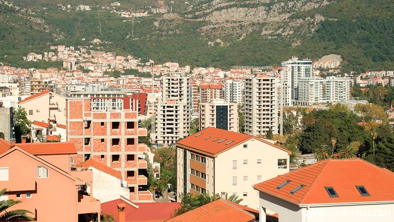 Вид на Будву с района Видиковац