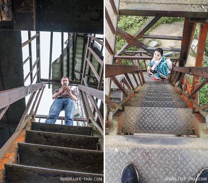 Ржавая лестница на смотровую площадку на горе Бринчанг, Малайзия