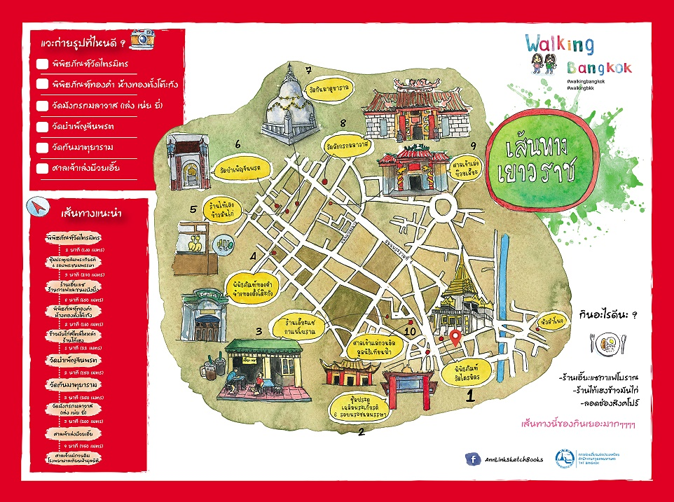 Пешеходный маршрут по достопримечательностям Бангкока #1