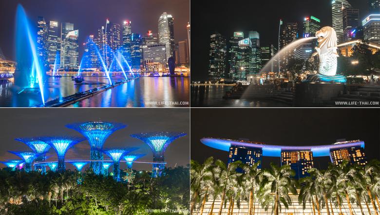 Достопримечательности Сингапура ночью