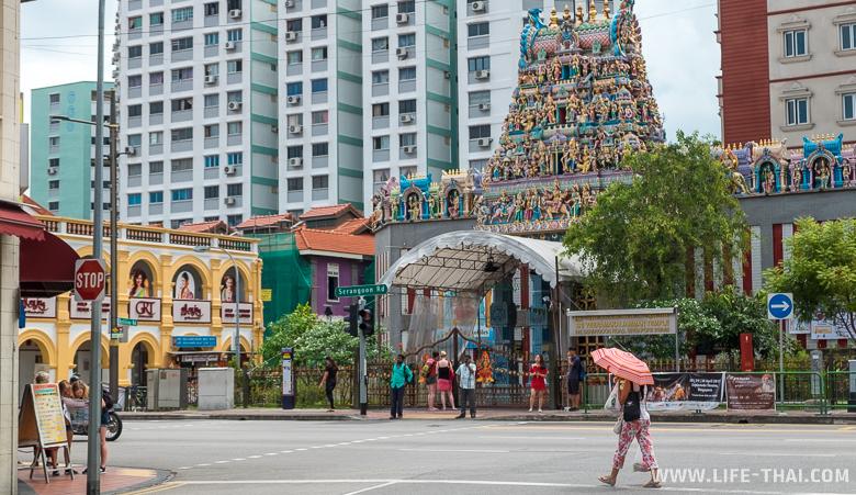 Индуистский храм в Сингапуре