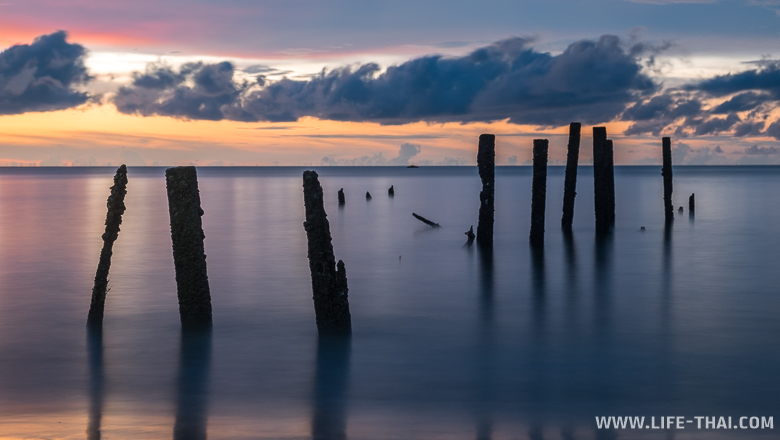 Закат на острове Борнео, длинная выдержка