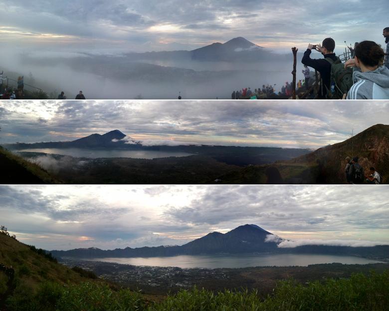 Панорама рассвета на вулкане Батур