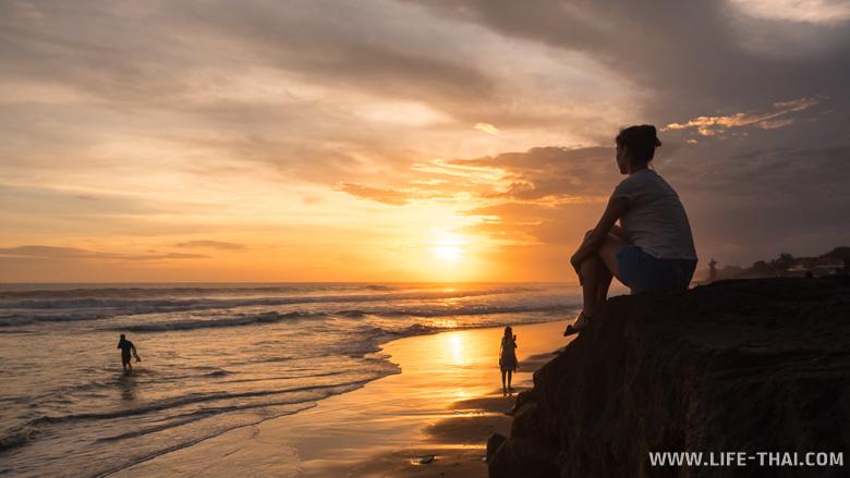 Фото: закат на Бали, пляж Эко бич
